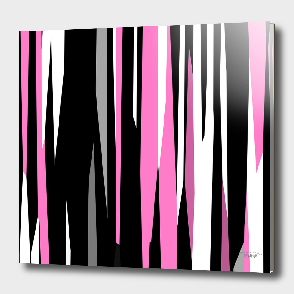 Pink black white and gray