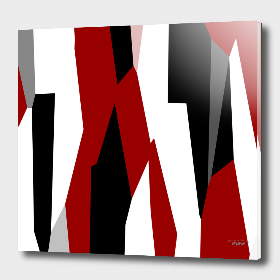 red black gray and white abstract