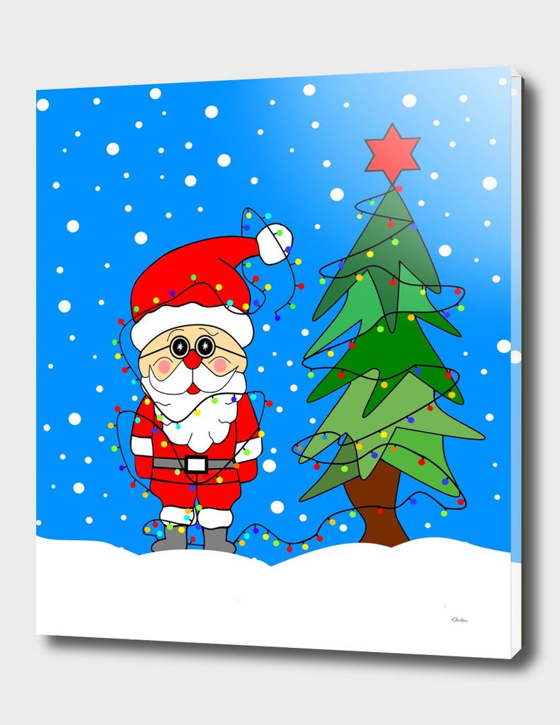 Santa And The Christmas Lights