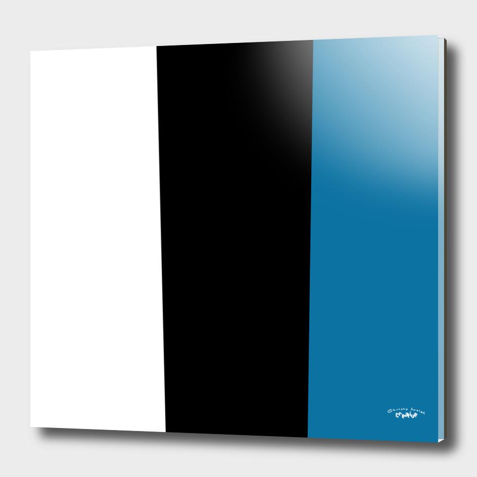 white black blue