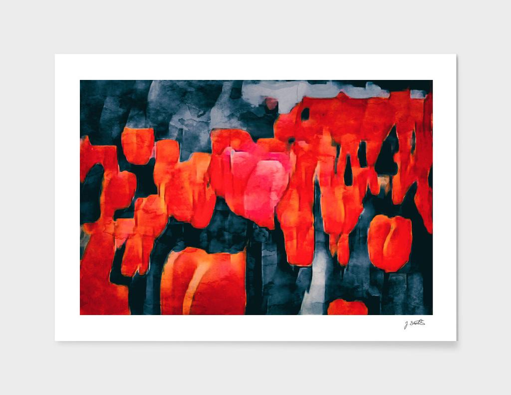 Tulip Field at Night
