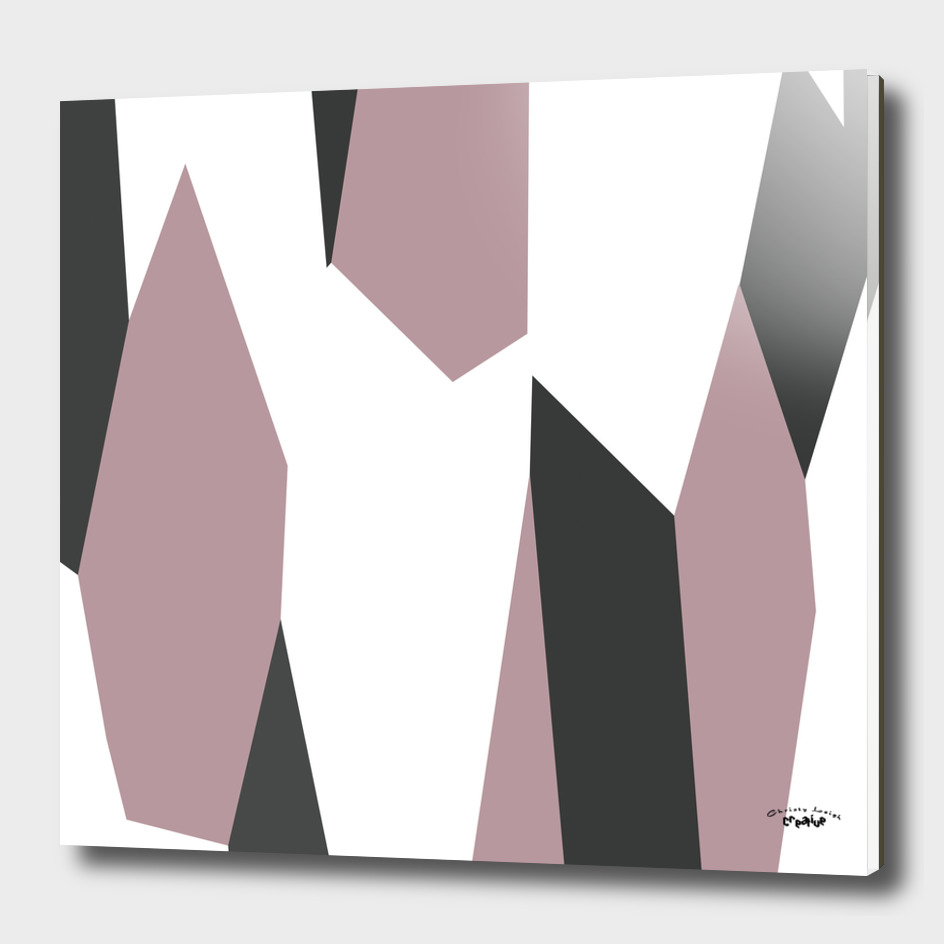 gray pink and white abstract