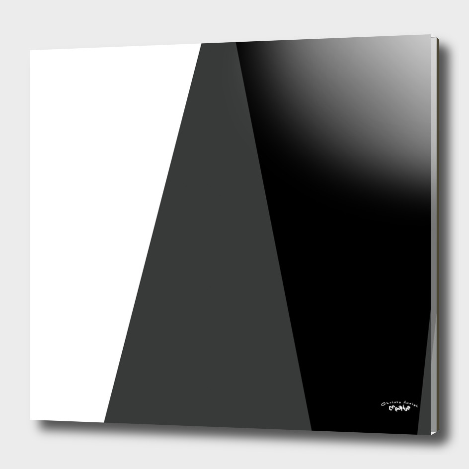 Black White and Gray Abstract