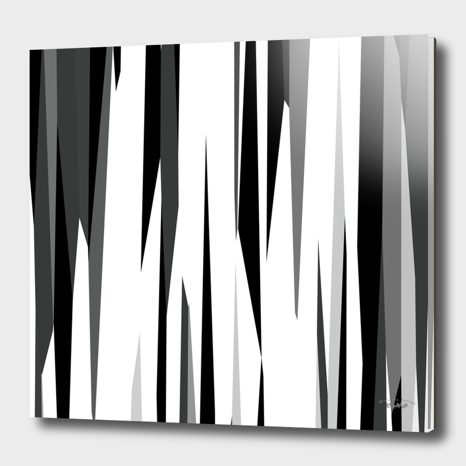 Black white and Gray Abstract Streaks