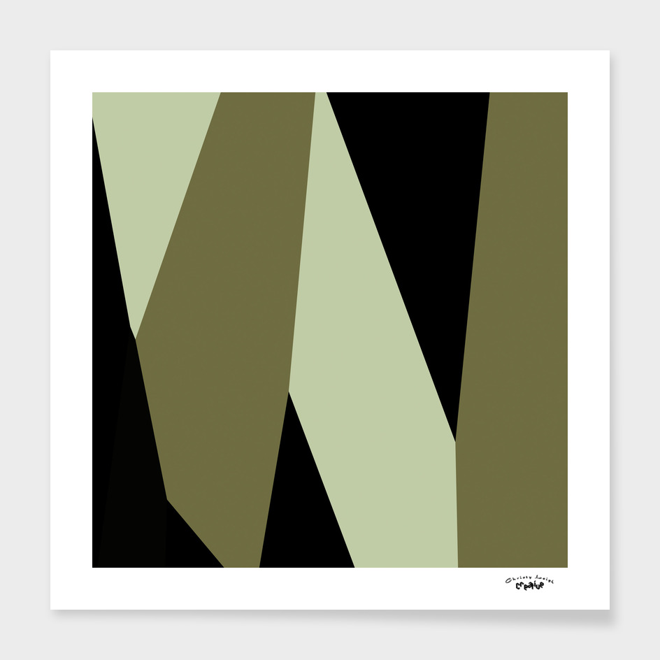 Olive and black abstract 2