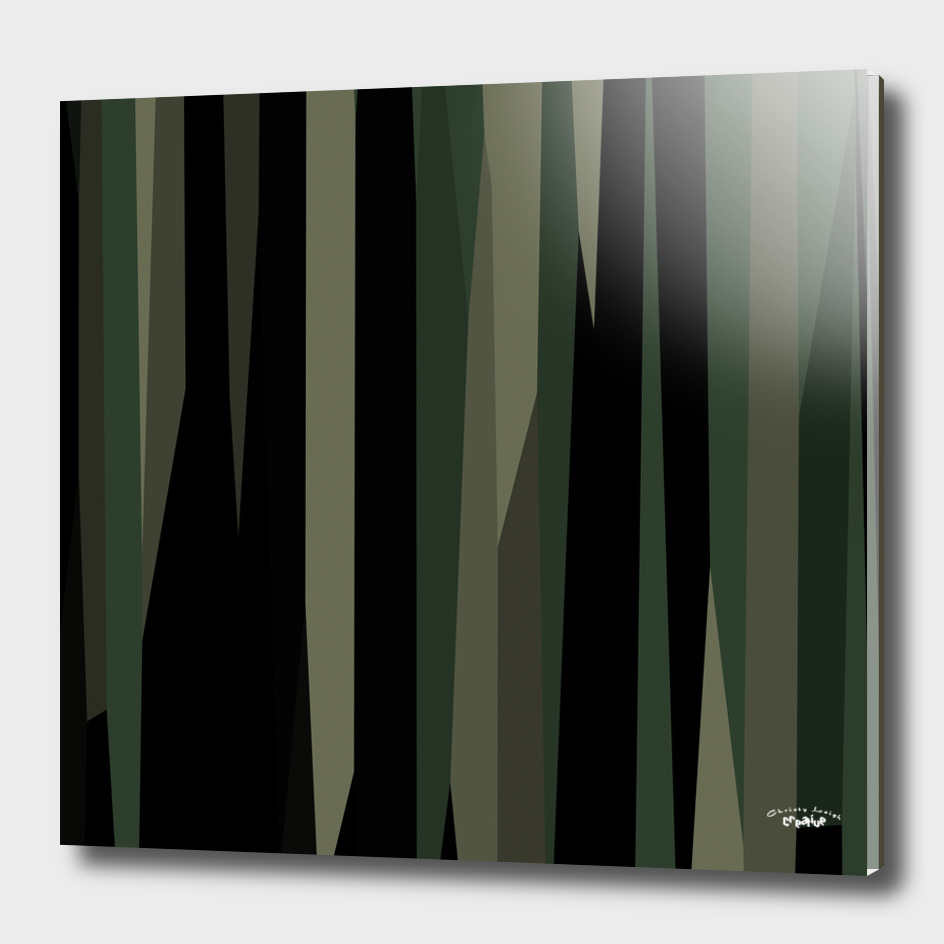 Green and black abstract 8