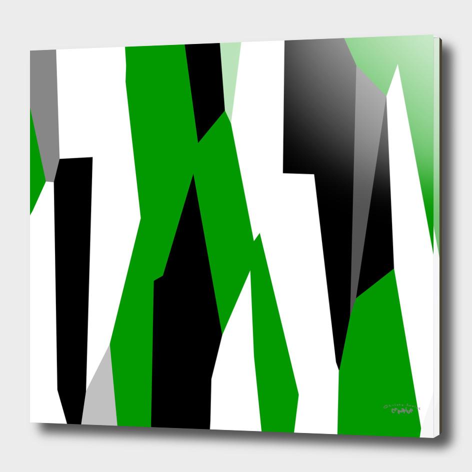 Shamrock Green White and black