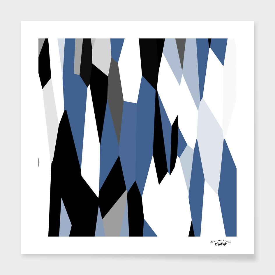 blue black gray and white abstract