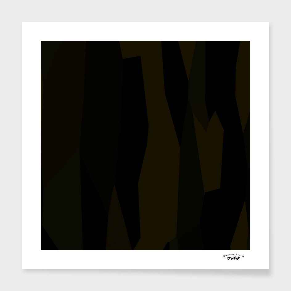 Olive brown and black abstract