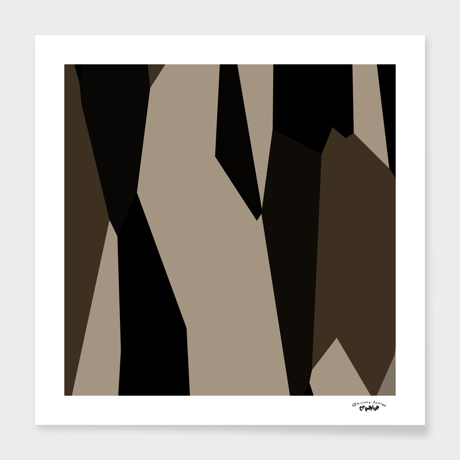 Coffee cream and black abstract