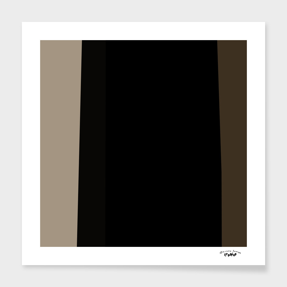Coffee cream and black abstract stripes