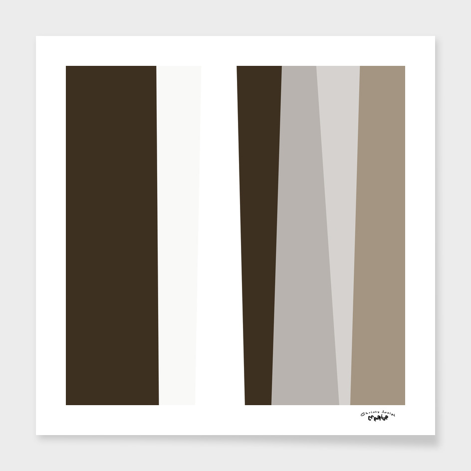 Brown white gray and tan