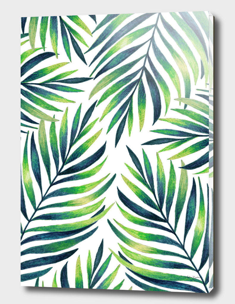 Tropical leaves. White pattern