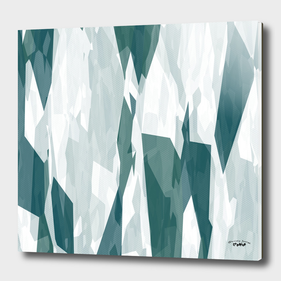 turquoise sea and white abstract 2
