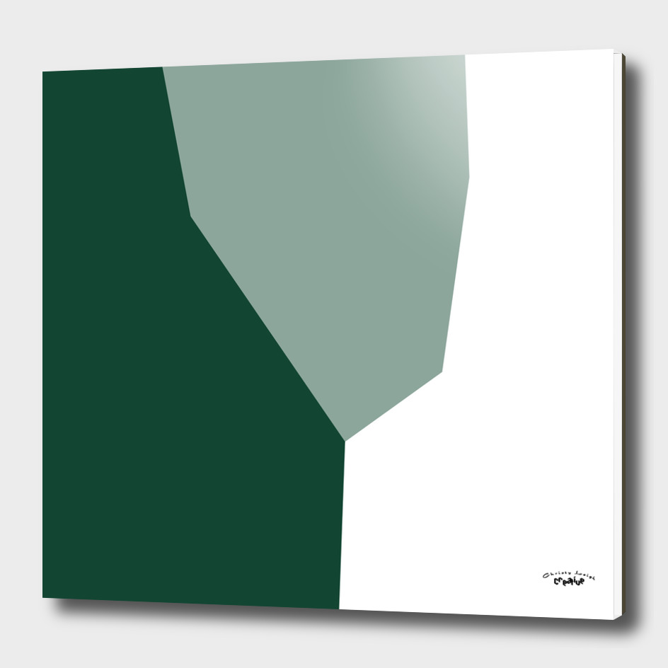 green and white abstract