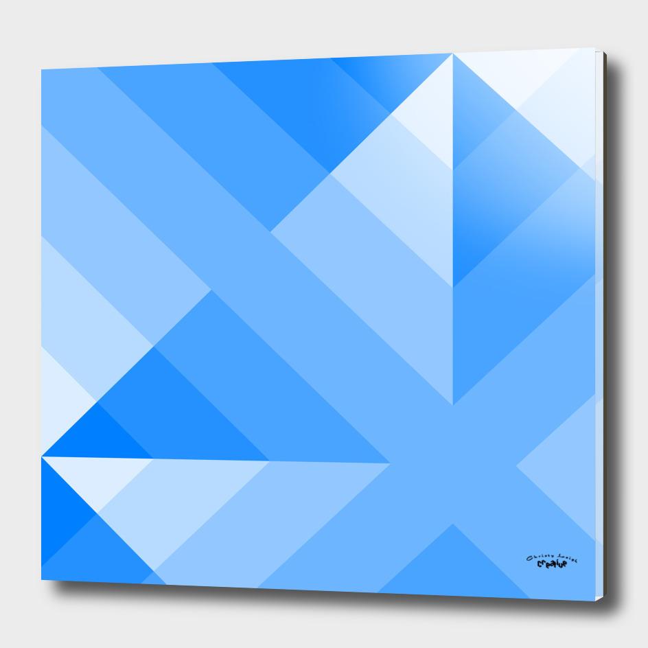 Blue Geometric Gradient