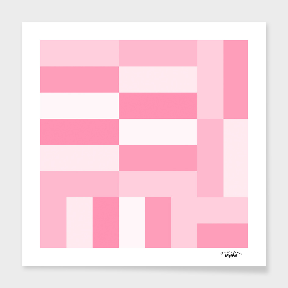 pink and white geomteric