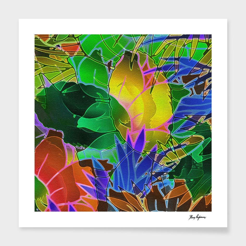 Floral Abstract Artwork C17