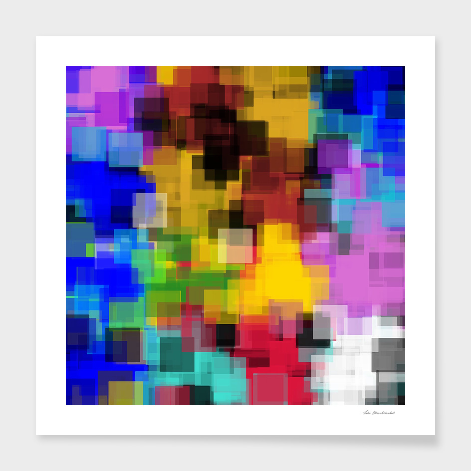 geometric square pattern painting abstract