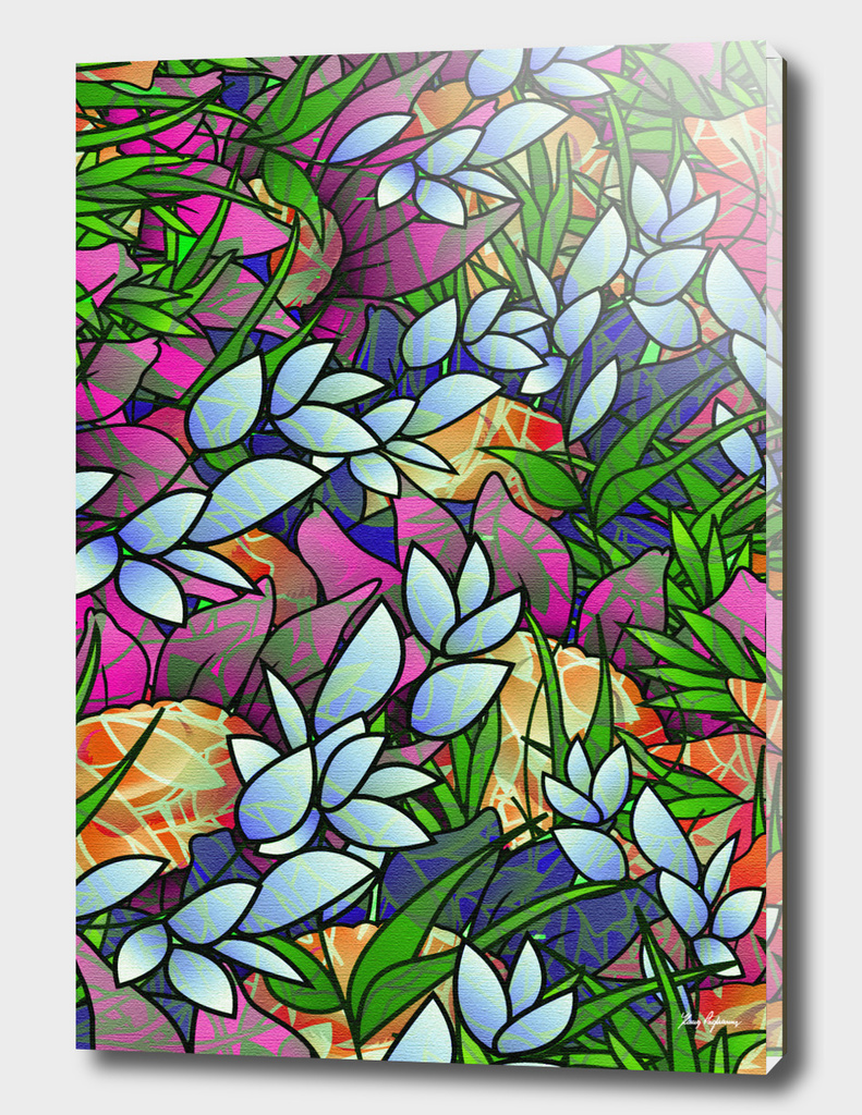 Floral Abstract Artwork G464