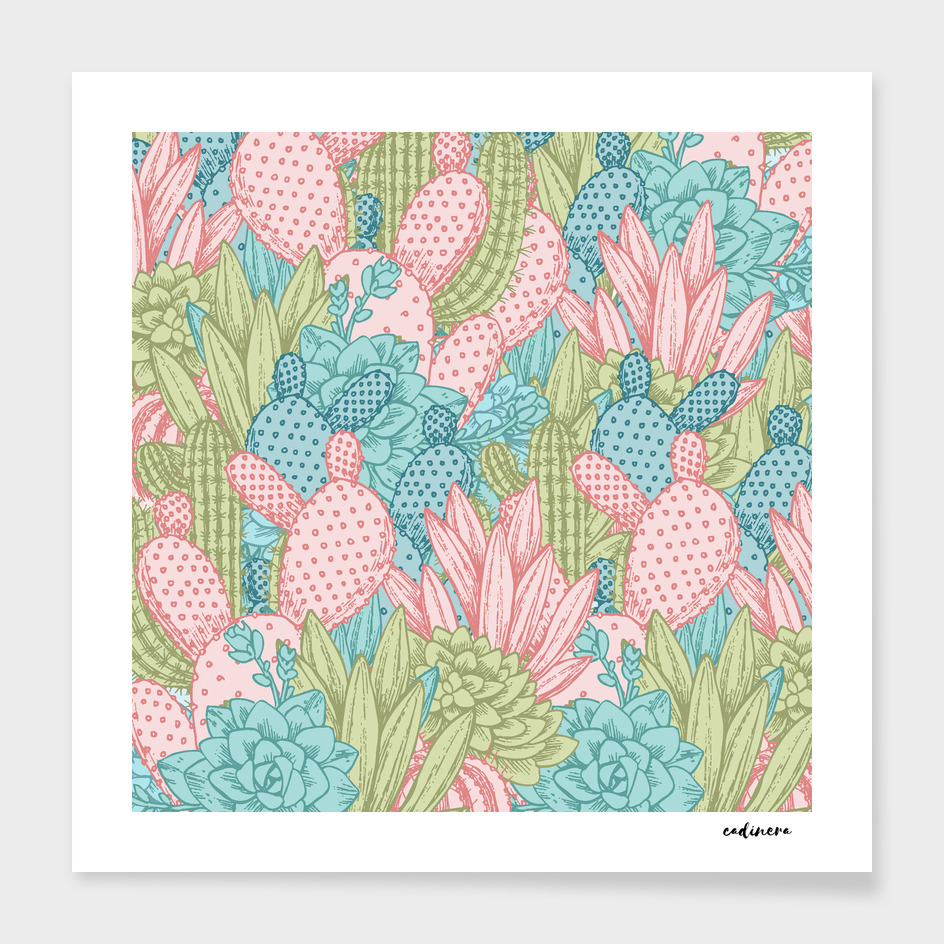 Pastel Cacti Obsession
