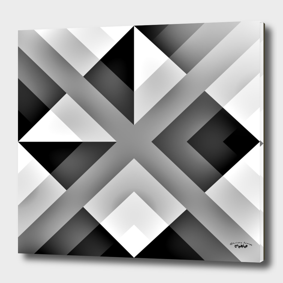 Black gray and White abstract 2
