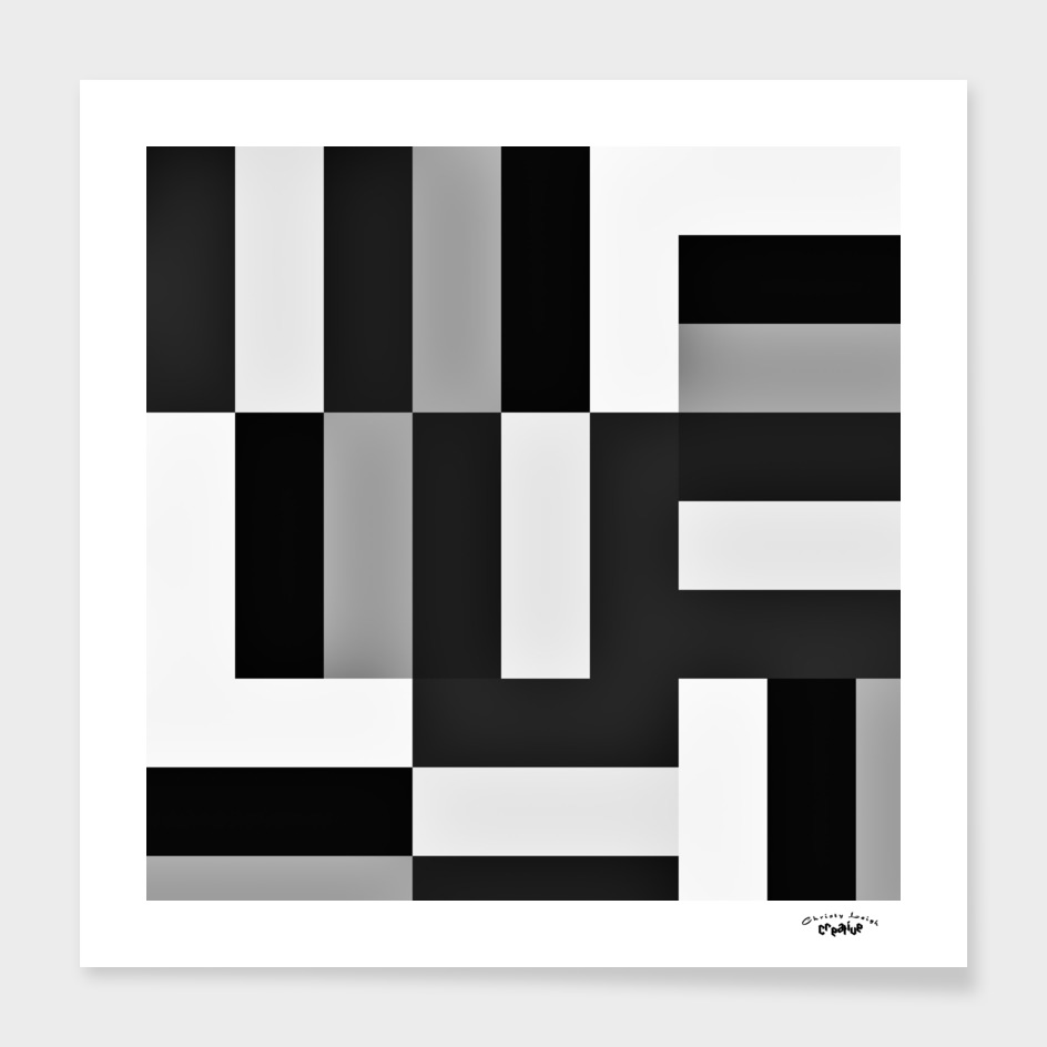 Black white and gray geometric 5
