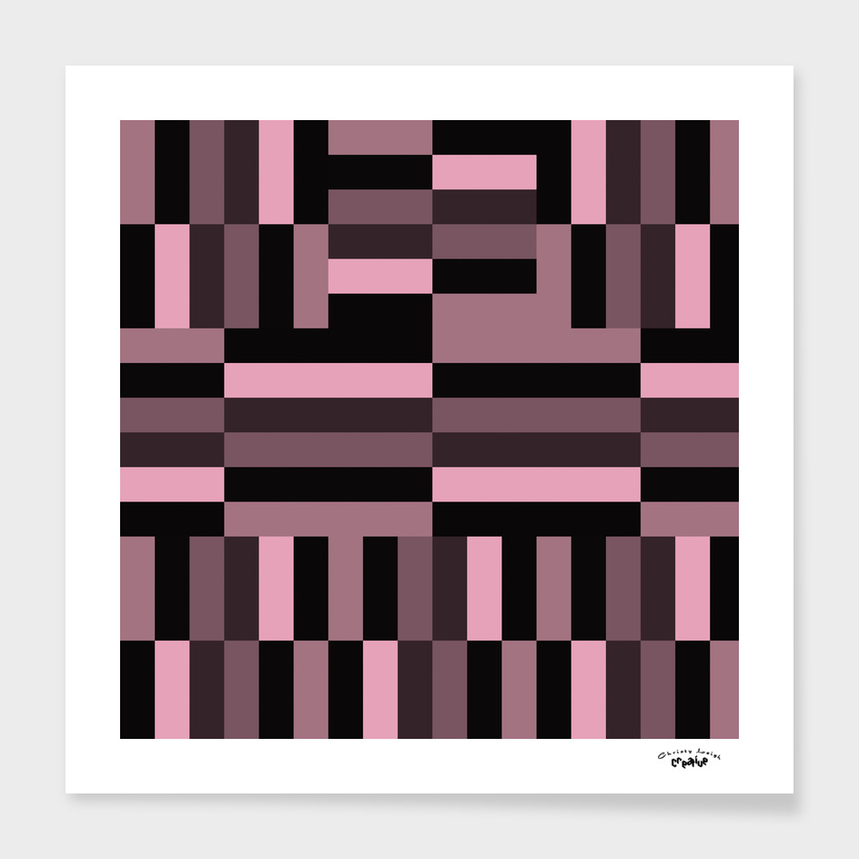 Pink and Black abstract Gradient