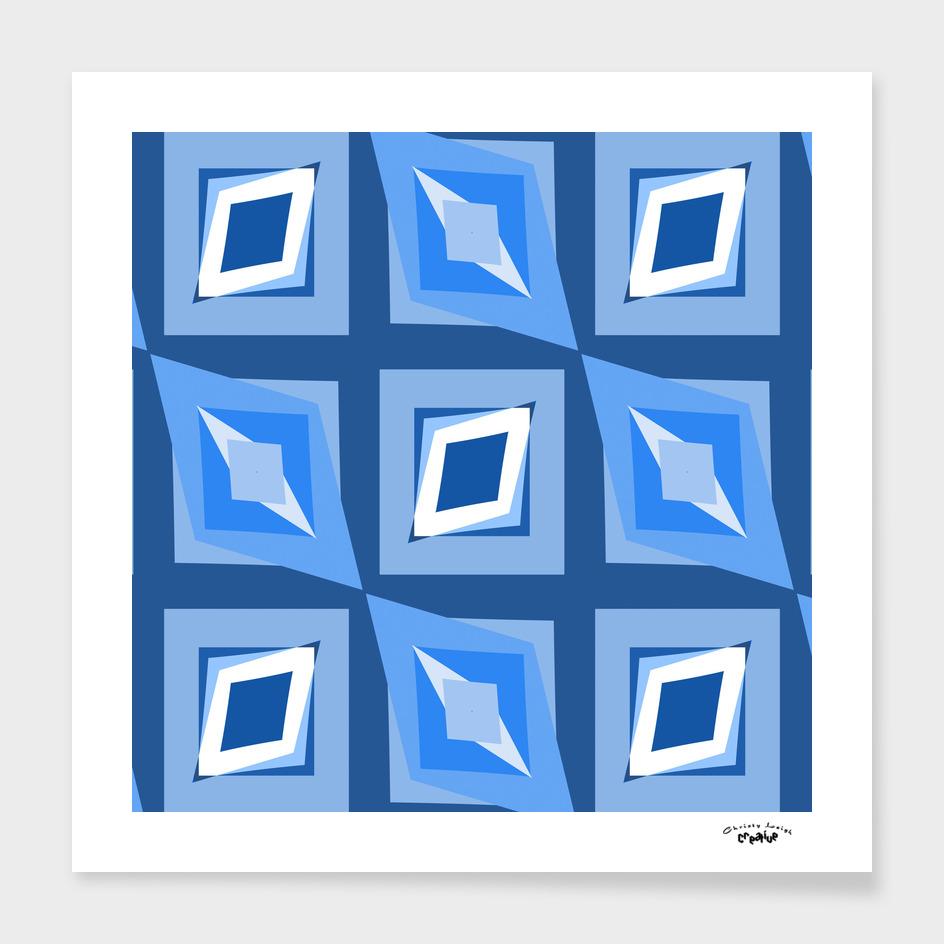 blue diamond abstract