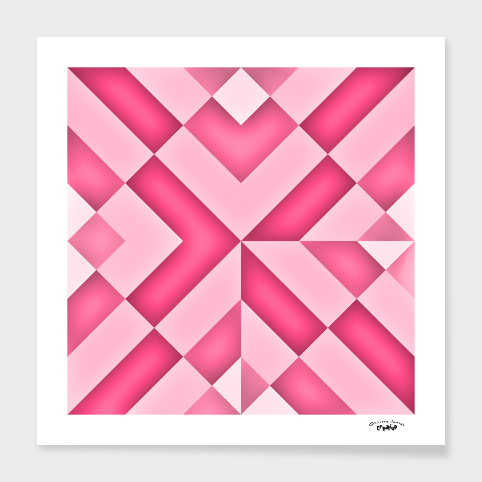 Pink diamond abstract