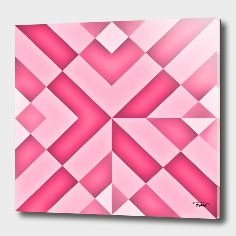 Pink diamond abstract