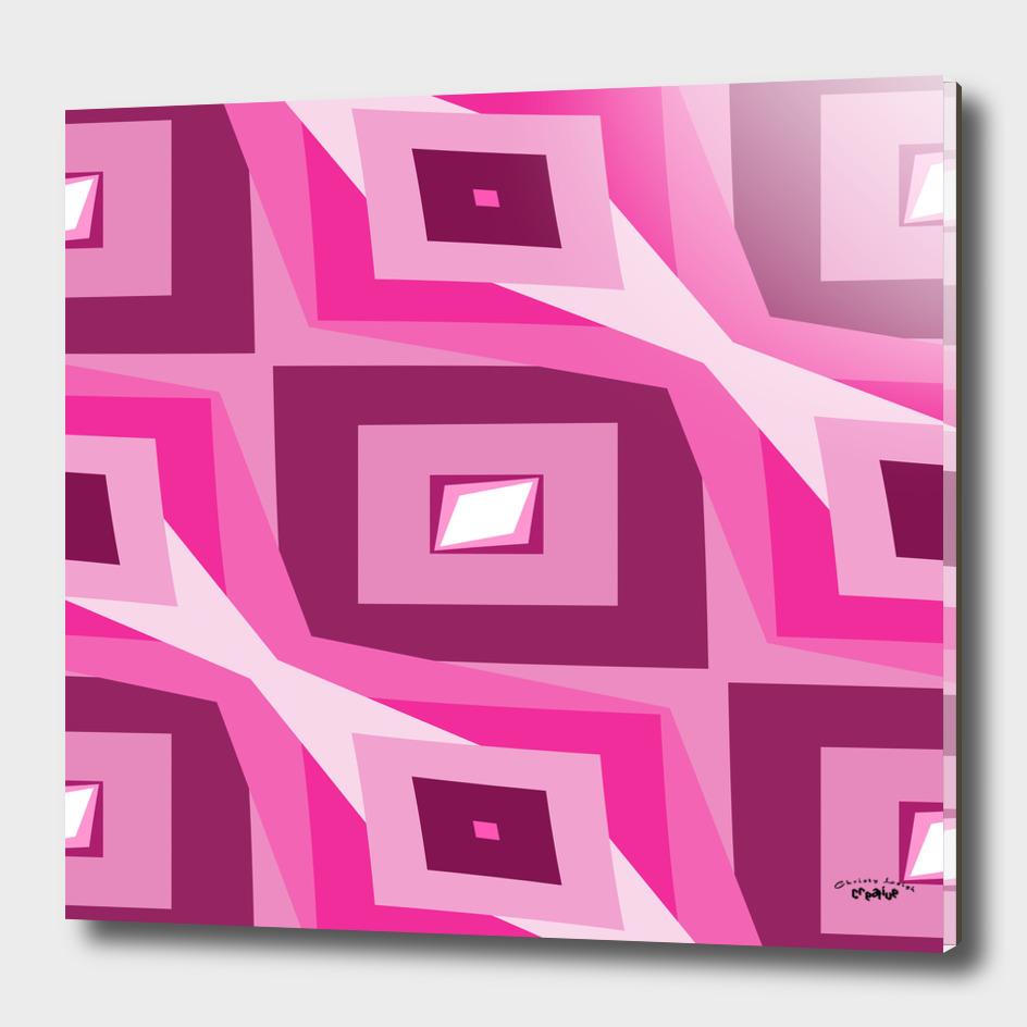 Fuchsia Diamond abstract