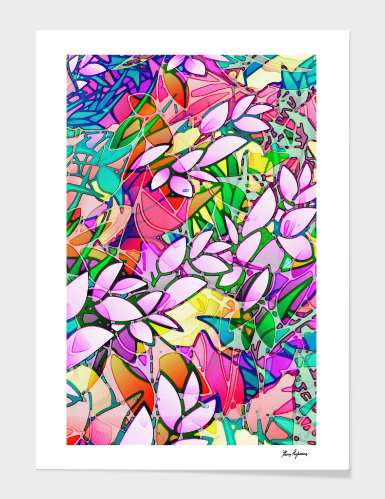 Floral Abstract Artwork G130