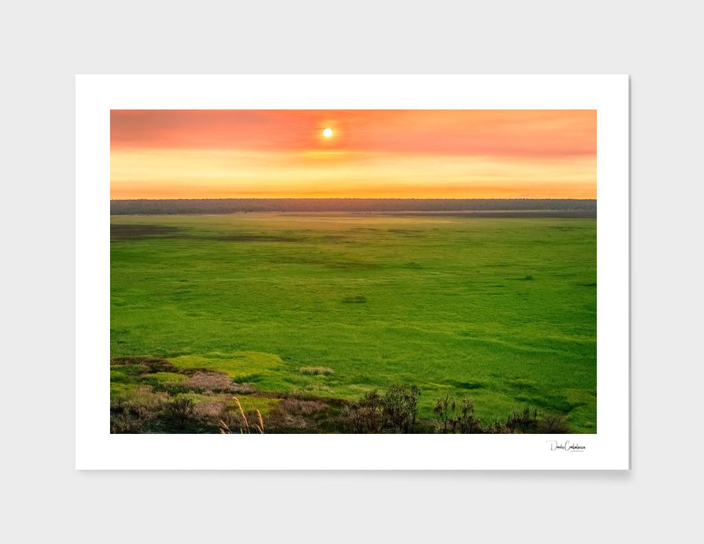Sunset from Ubirr Rock, NT, Australia.