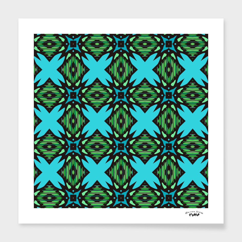 turquoise and green diamond abstract