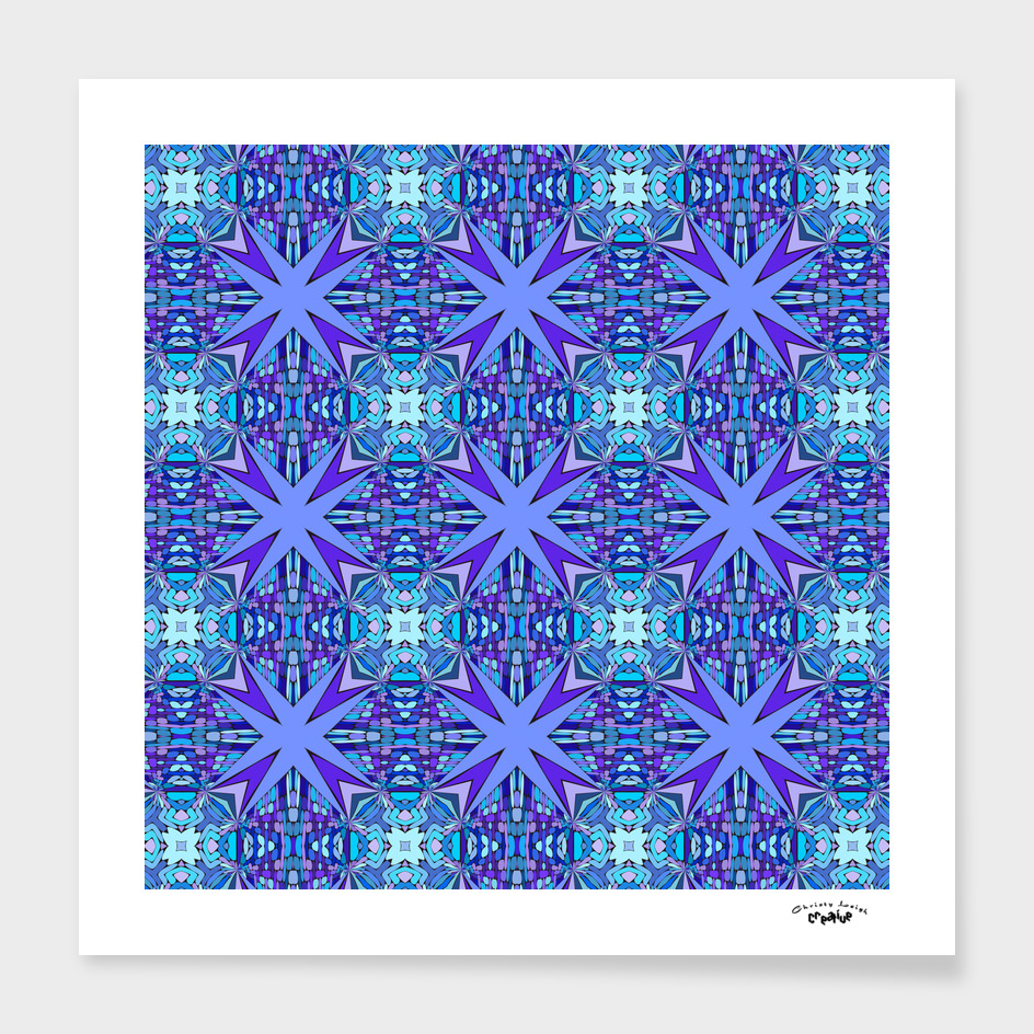 purple and blue star abstract