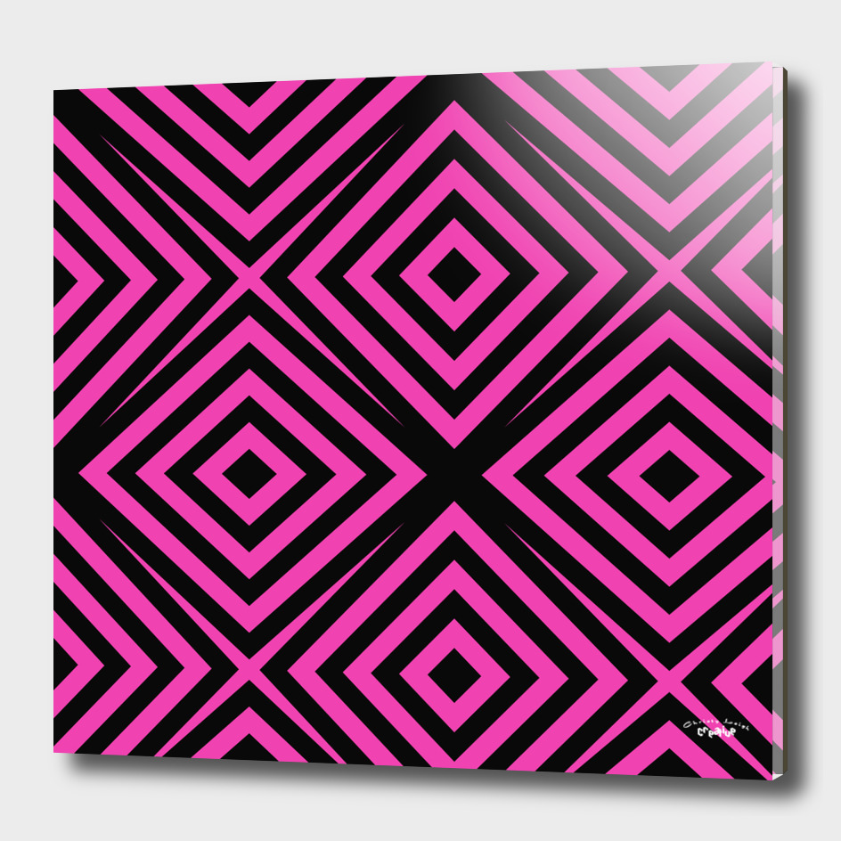 Pink and Black diamond abstract