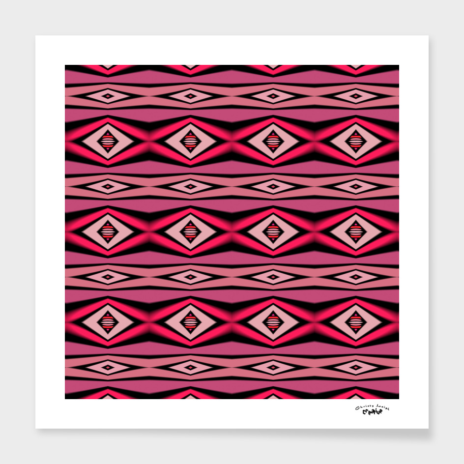 pink and black diamond pattern