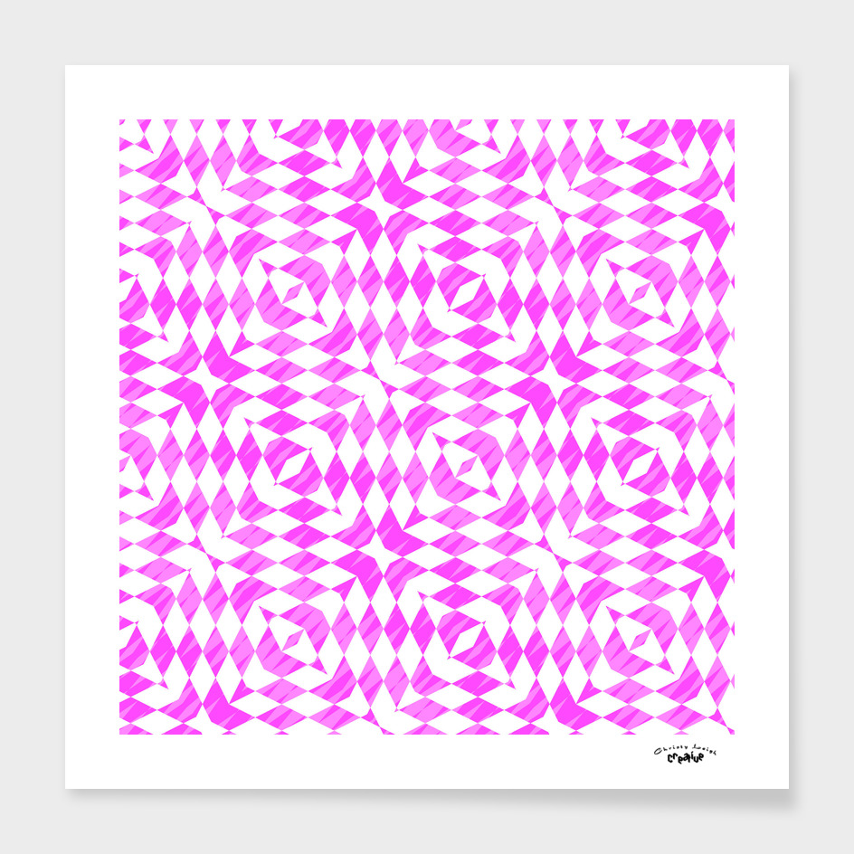 pink and white geometric abstract