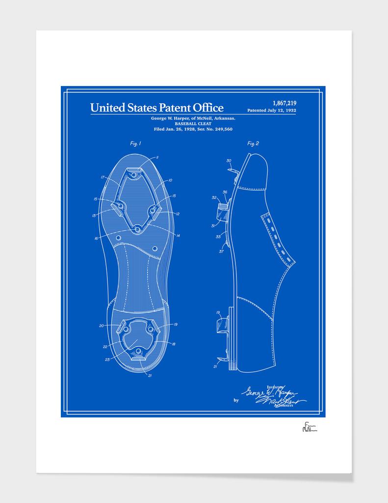 Baseball Cleat Patent - Blueprint