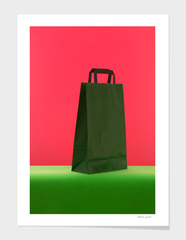 Still life with a gift paper bag