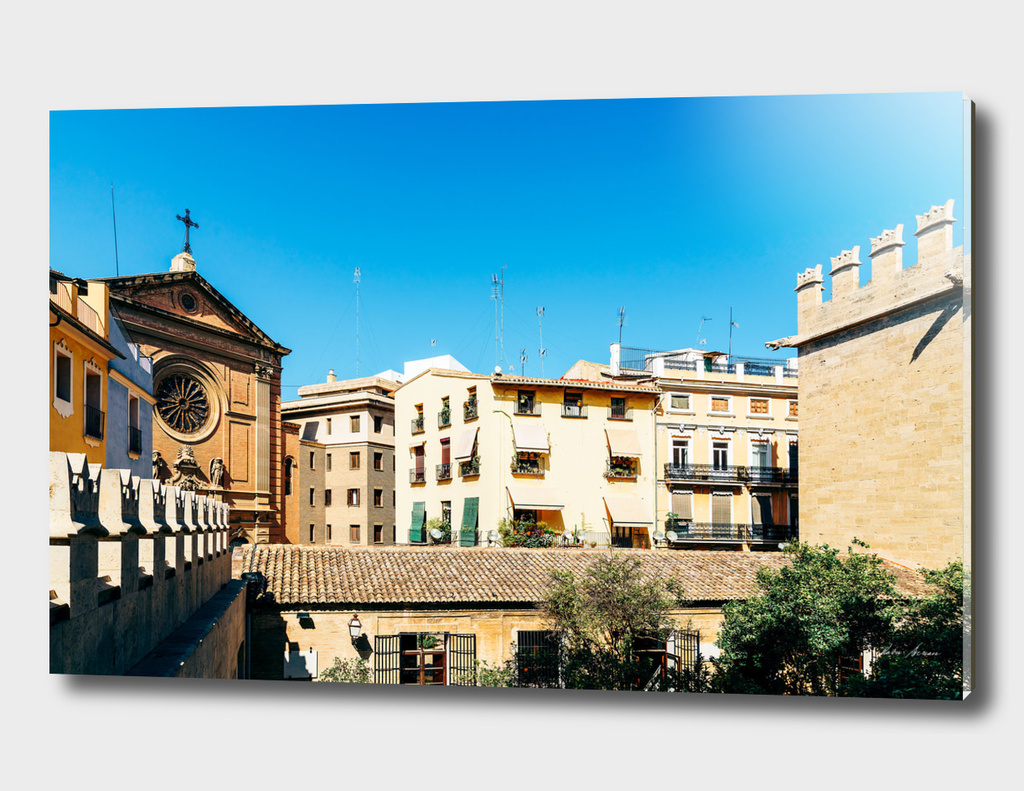 Classic Buildings Architecture In Valencia City