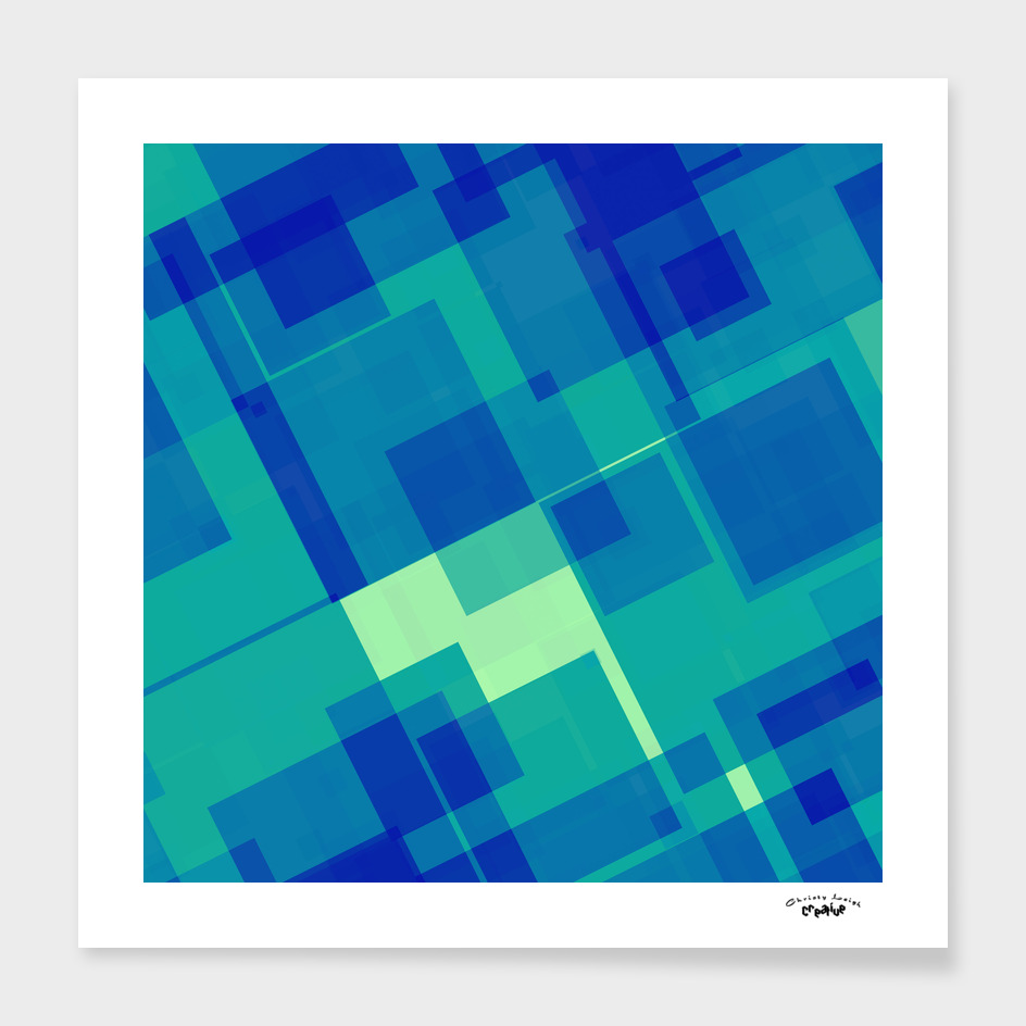 Blue and Green geometric