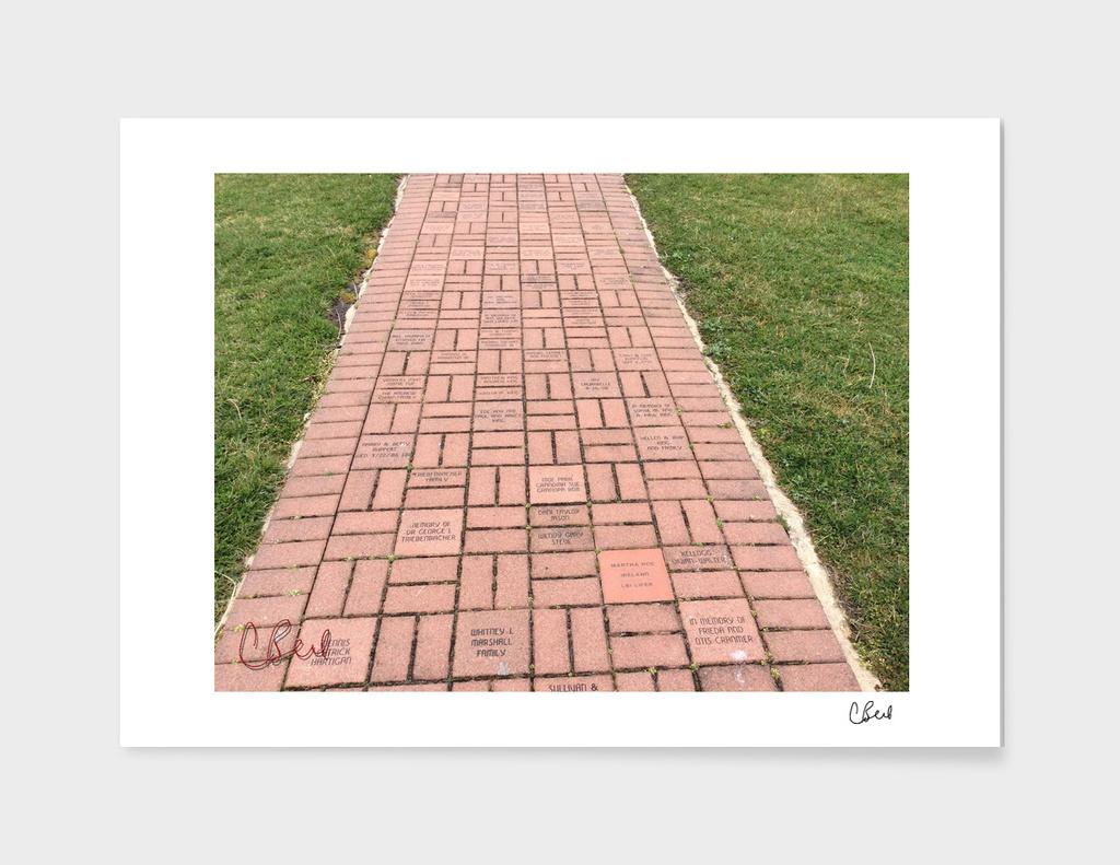 Dedication on the Sidewalk