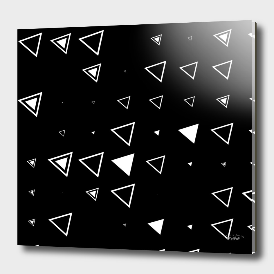 Black with White Triangles