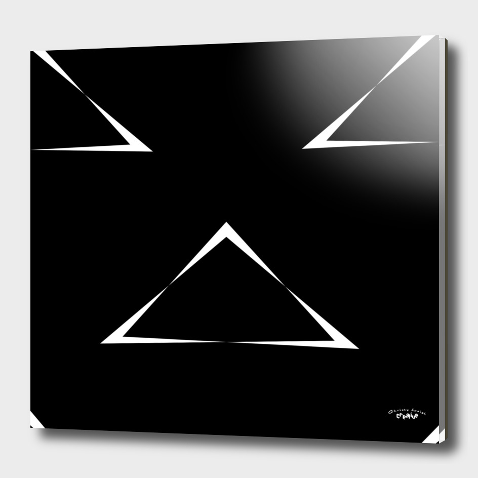 Black with White Triangles 4