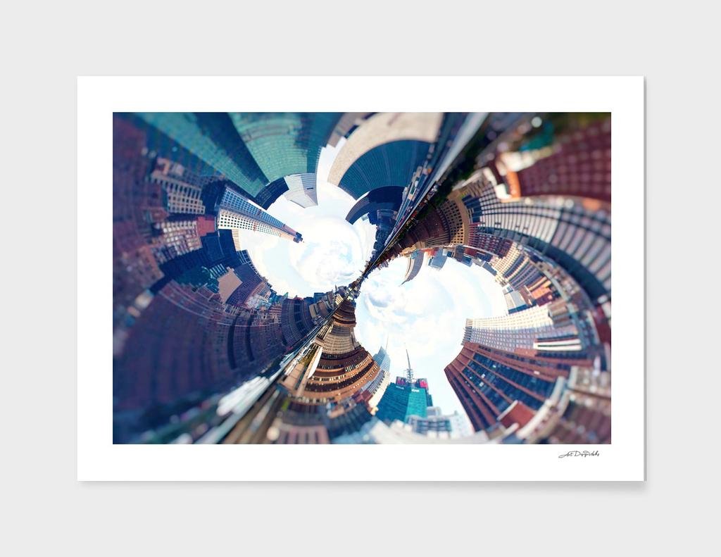 Artistic LXXIX - Abstract Fractal Lens CityScape I / NE