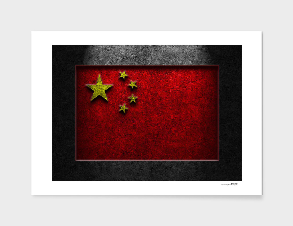 Chinese Flag Stone Texture