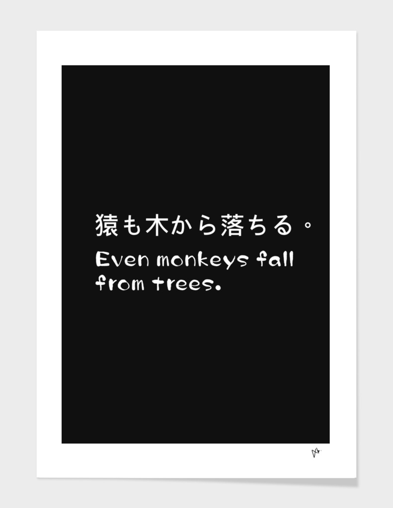Even monkeys fall from trees.