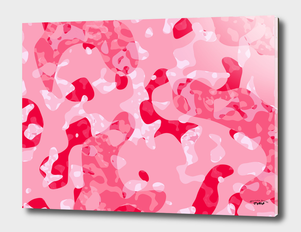 Pink and red  Camouflage Abstract
